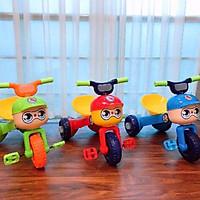 Xe đạp 3 bánh con kiến 2in1 có đèn led cho bé 1-3t