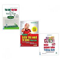 Combo Sách Tự Học Tiếng Anh : Vừa Lười Vừa Bận Vẫn Giỏi Tiếng Anh + Luyện Siêu Trí Nhớ Từ Vựng + Học Đánh Vần Tiếng Anh - (Tặng Kèm Bookmark Thiết Kế AHA)