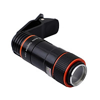 12X Long Focus Optical Zoom Adjustable Mobile Phone Lens External HD Camera Lens Mini Clamp Type Auxiliary Shooting Lens