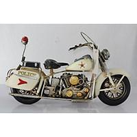 Mô hình kim loại xe Mô tô Cảnh sát trưng bày/ Vintage Metal Motorcycle Police Handmade Decoration (1904E-7890)