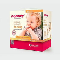 Khăn khô đa năng Mamamy, dùng thay khăn sữa, hộp 180 tờ, an toàn cho trẻ sơ sinh