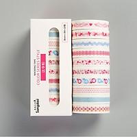 Bộ 10 Băng Keo Giấy Trang Trí Washi Tape ( Trang Trí Sổ, Chia Dòng)