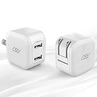 Củ sạc cho Điện thoại và Máy tính bảng hiệu INNOSTYLE MiniGo 2 cổng Usb-A / 12W / Công nghệ thông minh Smart Ai (2 trong 1) - hàng nhập khẩu