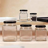 Hũ thủy tinh nắp thiếc cỡ 500ml dùng đựng gia vị, mật ong, đồ khô cực an toàn và dày đẹp cho gia đình