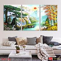 Bộ tranh treo tường phong thủy trang trí nội thất đẹp và giá gốc tại xưởng mới nhất thị trường ĐL 56