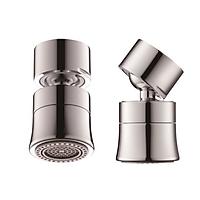 Đầu gắn vòi nước tăng áp, xoay 360 độ, hai chế độ nước, bằng đồng thau Waternymph ASQPQ034-N0020 (kèm bộ Ren chuyển đổi 6 món cho tất cả các loại vòi nước tiêu chuẩn)