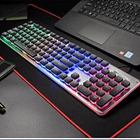 Bàn phím giả cơ chuyên chơi game LANGTU L1 bảng kim loại cao cấp có LED chiếu sáng Full size 104 phím - Hàng chính hãng