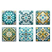 Set 6 Đế Lót Ly Gốm Vuông Mika Coaster J-001-044-S-V