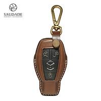 Bao Da chìa khóa dành cho xe Mercedes Benz GLC 200 da Vachetta Saudade