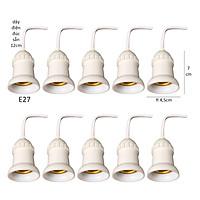 10 Đui đèn chống chịu nước đuôi xoáy E27 đúc liền dây điện 12cm trang trí ngoài trời LH-ODx+12