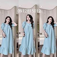 Váy bầu đầm bầu chất Lụa Hàn mềm mạithiết kế sang chảnh mặc đi làm đi chơi đều đcFree size 43~68k
