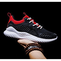 Giày Sneaker thể thao nam mầu đen đỏ phong cách ST019
