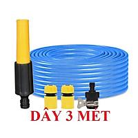 Bộ dây vòi xịt nước rửa xe,tưới cây ,tăng áp 3 lần,loại 3m,5m 206622-5 cút sập,nối nhựa đen+ móc khoá
