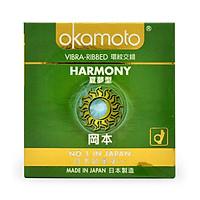 Bao Cao Su Gân Sọc Okamoto Harmony Hộp 3 Chiếc