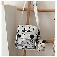 Túi vải đeo chéo nữ bò sữa giá rẻ BAG U VBS78