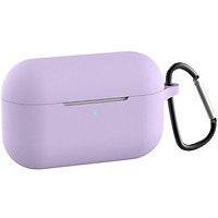 Silicone Case for AirPods Pro Earphone Full Body Protective Cover Shockproof Storage Shell with Carabiner Clip for Outdoor Travel