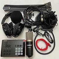 Combo trọn bộ sound card Takstar SC-M1 và Micro Takstar PC-K500 thu âm live stream, karaoke cực hay, kẹp bàn màng lọc, tai nghe kiểm âm- Hàng chính hãng