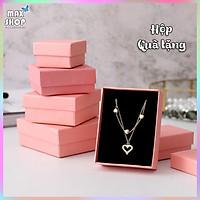 Hộp quà tặng hộp trang sức Màu hồng pastel sang trọng chất liệu cao cấp