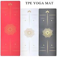 2021 Mới Liệt Kê TPE 6MM Yoga Thể Dục Chống Trơn Trượt Cân Thể Thao Thảm Lót Gắp Nóng Vị Trí dây Chuyền Thiết Bị Cho Gia Đình
