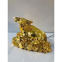 Tượng trâu nằm tiền mạ vàng 24k,quà tặng cao cấp