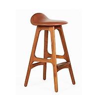 Ghế bar chân gỗ nệm PVC nhỏ gọn Erik buch nội thất capta