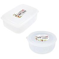 Combo 02 hộp nhựa bảo quản thực phẩm Nakaya 1300ml, có nắp mềm - Nội địa Nhật Bản