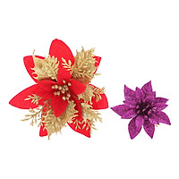 Combo 2 Bông Trạng Nguyên Kim Tuyến Trang Trí Noel