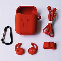 Bộ 5 món phụ kiện chống rớt Airpods gồm hộp silicon, móc khoá, dây nối, bao tai, đế xỏ đồng hồ cho tai nghe Airpods