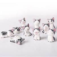 Tượng trang trí gốm sứ mèo Chii-Chi's 5x3cm - 1 con - hình ngẫu nhiên