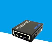 Converter quang 4 port lan 100Mbp Ho-link HL-SF1004D - Hàng Chính Hãng