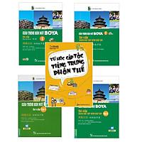 Combo Giáo Trình Hán Ngữ Boya Sơ Cấp Tron Bộ 4 Cuốn Tặng Tự Học Cấp Tốc Tiếng Trung Phồn Thể và Video học 6000 từ vựng tiếng Trung thông dụng qua hình ảnh