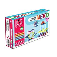 3618S - Bộ xếp hình nam châm thông minh 7 màu Neko (36 thanh, 18 bi) - Thanh ngắn