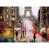 Tranh ghép hình 1000 mảnh 2cm khổ 54×74 – Tranh xếp hình Puzzle cao cấp Mưa ở Paris – paris in the rain