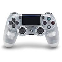 Tay cầm chơi game Dualshock 4 Crystal tặng kèm dây sạc cao cấp - Hàng nhập khẩu