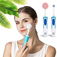 Dụng cụ đầu Silicone chăm sóc da mặt tẩy trang, làm sạch, mát xa mặt, tẩy da chết gắn máy đánh răng điện Oral B MIHOCO Braun