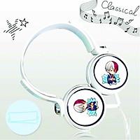 Tai nghe chụp in hình Todoroki Shouto Học Viện Anh Hùng - My Hero Academy anime chibi cắm dây có mic