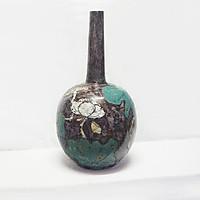 Bình hoa dáng cổ dài gốm sơn mài Bát Tràng - Lộc bình Tâm linh của người Việt, Gốm độc - lạ - hiện đại