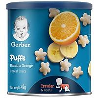 Bánh Ăn Dặm Gerber Puffs Chuối Cam 49g