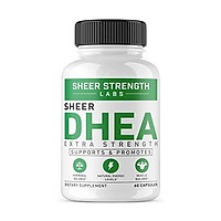 Extra Strength DHEA 50mg Supplement - for Boosting Lean Muscle Mass, Restoring Youthful Energy Levels, and Promoting Healthy Aging in Men and Women, New Non-GMO Formula, Sheer Strength Labs, 60ct