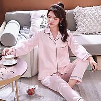 New Couple Pajamas Sleepwear Set Long Sleeve Autumn Silk Home Suit Turn-down Neck Plus Size 3XL Couple Nightgown Sleepwear W1