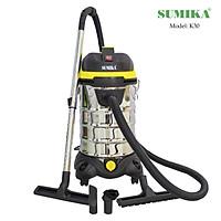 Máy hút bụi SUMIKA K30, Màu Vàng, 30L, 1800W, hút nước, hút bụi, thổi bụi, dây điện dài 10m, thùng chứa inox không gỉ - Hàng chính hãng