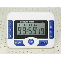 Đồng hồ đếm ngược 4 kênh đếm ngược tối đa 99 giờ - Tặng kèm 1 móc rìu bằng thép không gỉ