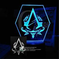 Đèn Ngủ Game Đèn LED 3D Assassin's Creed Sign GASC0101 16 màu tùy chỉnh - Compa Shop