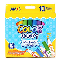Bút Dạ Màu Loại Ngắn Amos Color Buddy CM10P-M (10 Bút/Hộp)