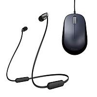 Combo Tai nghe Bluetooth Sony WI-C310 & Chuột BlueLED ELECOM M-Y8UBBK - Hàng chính hãng