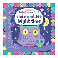 Sách tương tác tiếng Anh - Usborne Baby's Very First Slide And See: Night Time