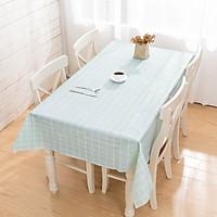 Khăn trải bàn PVC không thấm nước lót bàn ăn - Xanh ngọc