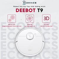 robot hút bụi lau nhà Ecovacs Deebot T9 - Lực hút Max 3000Pa -Làm thơm không khí - Hàng Chính Hãng -  Bảo Hành 18 tháng