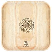 Đĩa gỗ vuông Gỗ Đức Thành
