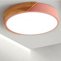 Đèn ốp trần phòng khách trang trí LED ốp gỗ